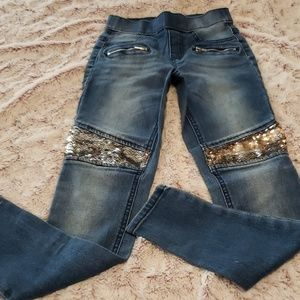 Justice Pull-on Jeggings with Flip Sequin Detail